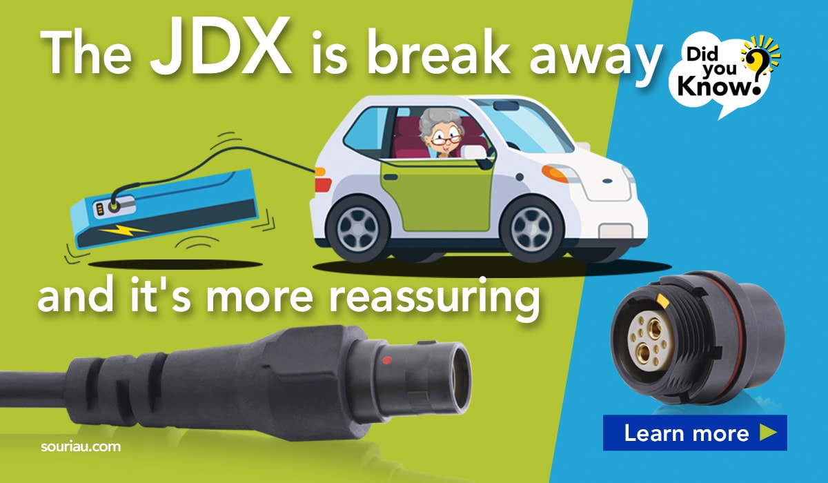 JDX is a breakaway connector