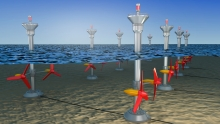 Marine renewable energies: tidal and wave turbines, offshore wind turbines, ocean thermal energy.